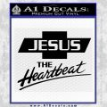 Jesus The Heartbeat Decal Sticker Black Vinyl 120x120