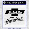 Jesus The Heartbeat Decal Sticker Black Vinyl 120x120