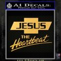 Jesus The Heartbeat Decal Sticker Gold Vinyl 120x120