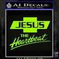 Jesus The Heartbeat Decal Sticker Lime Green Vinyl 120x120