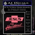 Jesus The Heartbeat Decal Sticker Pink Emblem 120x120