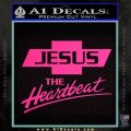 Jesus The Heartbeat Decal Sticker Pink Hot Vinyl 120x120