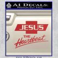 Jesus The Heartbeat Decal Sticker Red 120x120