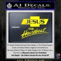 Jesus The Heartbeat Decal Sticker Yellow Laptop 120x120