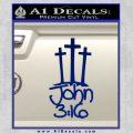 John 3 16 Decal Sticker Blue Vinyl 120x120