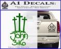 John 3 16 Decal Sticker Green Vinyl Logo 120x97