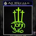 John 3 16 Decal Sticker Lime Green Vinyl 120x120