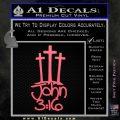 John 3 16 Decal Sticker Pink Emblem 120x120