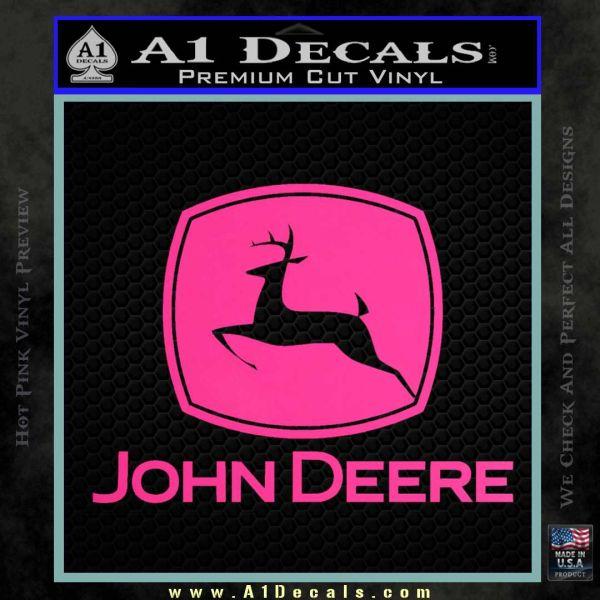 ... John Deere Full Decal Sticker Pink Hot Vinyl 120x120 ... Part 75