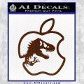 Jurassic Park Apple Decal Sticker BROWN Vinyl 120x120
