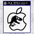 Jurassic Park Apple Decal Sticker Black Vinyl 120x120