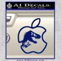 Jurassic Park Apple Decal Sticker Blue Vinyl 120x120