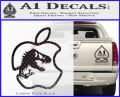 Jurassic Park Apple Decal Sticker Carbon FIber Black Vinyl 120x97