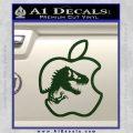 Jurassic Park Apple Decal Sticker Dark Green Vinyl 120x120
