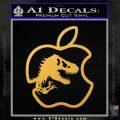 Jurassic Park Apple Decal Sticker Gold Vinyl 120x120