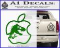 Jurassic Park Apple Decal Sticker Green Vinyl Logo 120x97