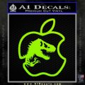Jurassic Park Apple Decal Sticker Lime Green Vinyl 120x120