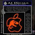 Jurassic Park Apple Decal Sticker Orange Emblem 120x120