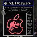 Jurassic Park Apple Decal Sticker Pink Emblem 120x120