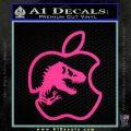 Jurassic Park Apple Decal Sticker Pink Hot Vinyl 120x120
