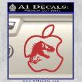 Jurassic Park Apple Decal Sticker Red 120x120