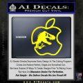 Jurassic Park Apple Decal Sticker Yellow Laptop 120x120
