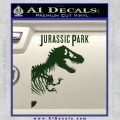 Jurassic Park Book Decal Sticker Dark Green Vinyl 120x120