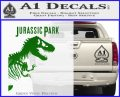 Jurassic Park Book Decal Sticker Green Vinyl Logo 120x97