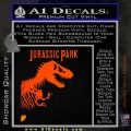 Jurassic Park Book Decal Sticker Orange Emblem 120x120