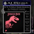 Jurassic Park Book Decal Sticker Pink Emblem 120x120