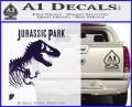 Jurassic Park Book Decal Sticker PurpleEmblem Logo 120x97