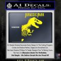 Jurassic Park Book Decal Sticker Yellow Laptop 120x120