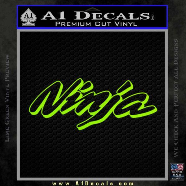 Kawasaki Ninja Decal Sticker D1 Lime Green Vinyl