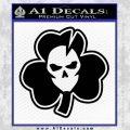 Lucky Skull Shamrock Irish Luck Decal Sticker Black Vinyl 120x120