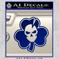 Lucky Skull Shamrock Irish Luck Decal Sticker Blue Vinyl 120x120