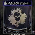 Lucky Skull Shamrock Irish Luck Decal Sticker Carbon FIber Chrome Vinyl 120x120