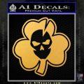 Lucky Skull Shamrock Irish Luck Decal Sticker Gold Vinyl 120x120