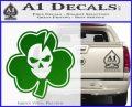 Lucky Skull Shamrock Irish Luck Decal Sticker Green Vinyl Logo 120x97