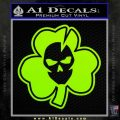 Lucky Skull Shamrock Irish Luck Decal Sticker Lime Green Vinyl 120x120