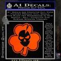 Lucky Skull Shamrock Irish Luck Decal Sticker Orange Emblem 120x120