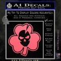 Lucky Skull Shamrock Irish Luck Decal Sticker Pink Emblem 120x120