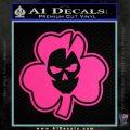 Lucky Skull Shamrock Irish Luck Decal Sticker Pink Hot Vinyl 120x120