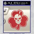 Lucky Skull Shamrock Irish Luck Decal Sticker Red 120x120