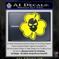 Lucky Skull Shamrock Irish Luck Decal Sticker Yellow Laptop 120x120