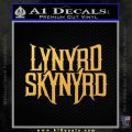Lynyrd Skynyrd D1 Decal Sticker Gold Vinyl 120x120