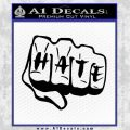 MMA Fist Hate Decal Sticker Black Vinyl 120x120