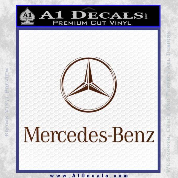 Mercedes benz logo intricate decal sticker a1 decals for A mercedes benz product sticker