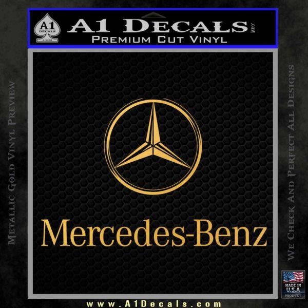 Mercedes benz logo intricate decal sticker a1 decals for Mercedes benz decal