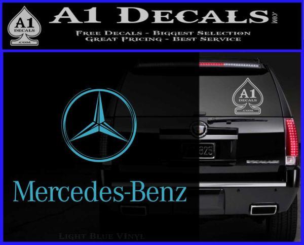 Mercedes benz logo intricate decal sticker a1 decals for Mercedes benz logo decals stickers