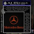 Mercedes Benz Logo Intricate Decal Sticker Orange Emblem 120x120